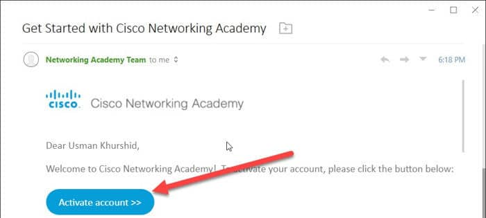 Activate Cisco OneID account