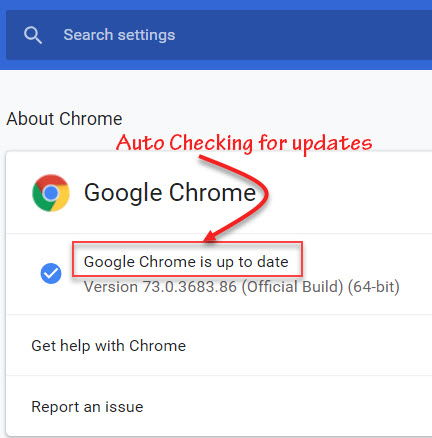 Auto checking for updates Google Update