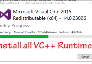 VC runtime installation