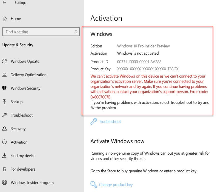 Windows 10 is not activated