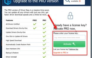 Activate Driver Easy Pro license