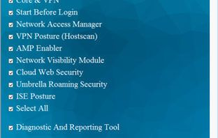 Cisco AnyConnect Secure Mobility Client Install Selector