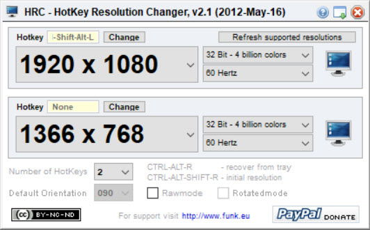 Hotkey Resolution Changer