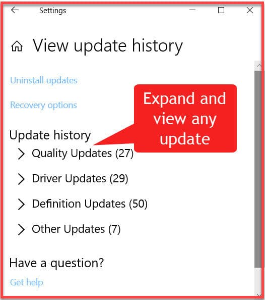 4 Ways To View And Save List Of Updates Installed On Windows 10