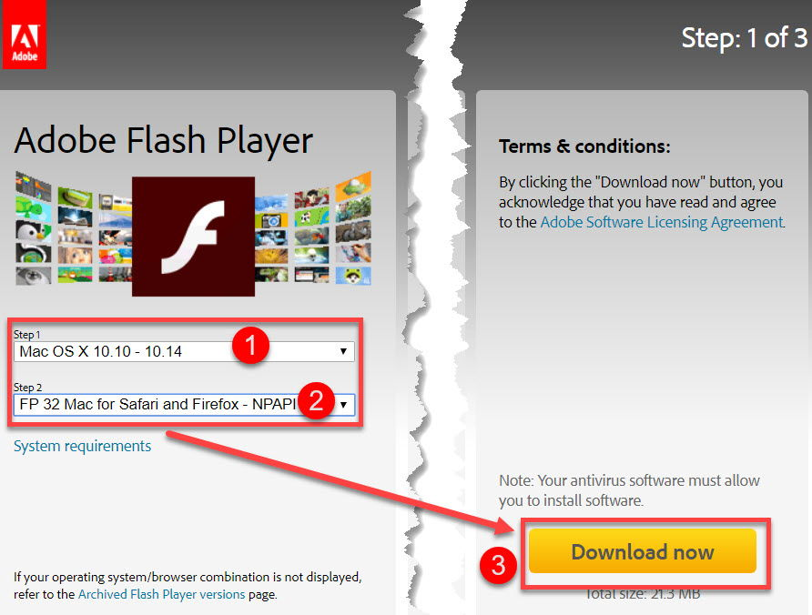 Download latest Adobe Flash Player stable