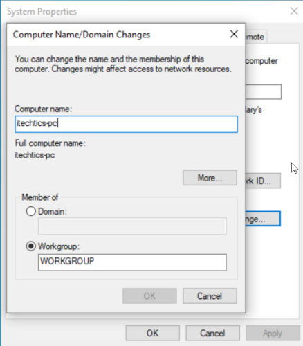 Computer Name Domain Changes