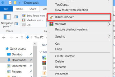 IObit Unlocker in context menu