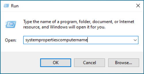 Open System Properties Computer tab