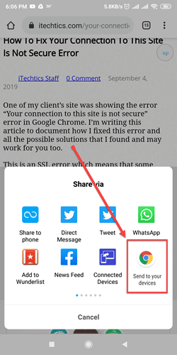 Chrome 77 Send to your devices feature.png