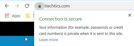 Connection is secure 1