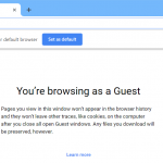 Google Chrome 77 in guest mode