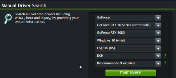 Nvidia Manual driver download