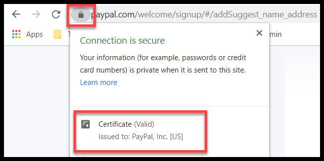 Paypal EVSSL certificate display in Chrome 77.jpg