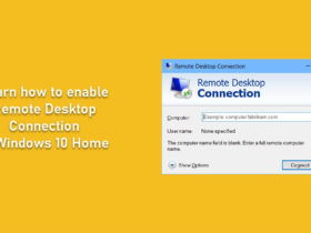 Remote Desktop Connection in Windows 10 Home
