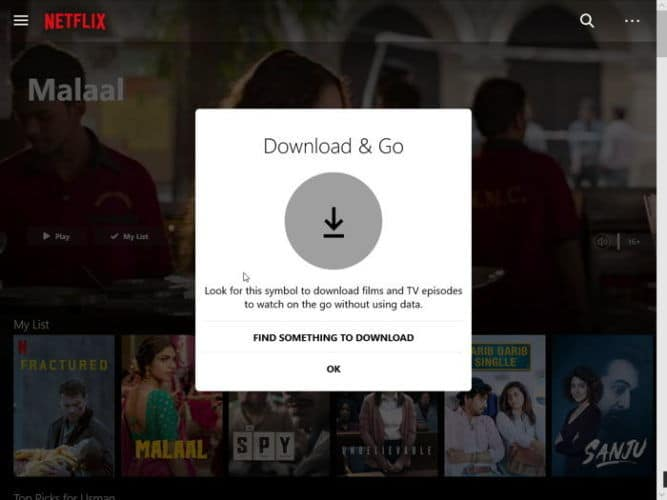 Download and Go for Netflix