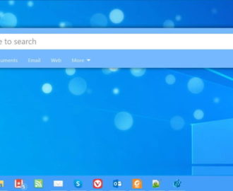 Immersive Search bar in Windows 10