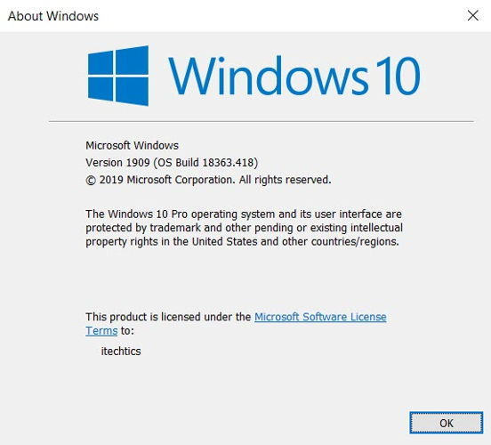 Download Windows 10 November 2019 Update Version 1909 Iso Images All Languages