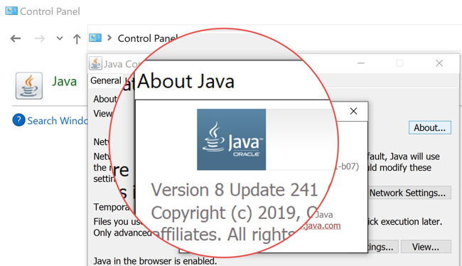About Java 8 Update 241