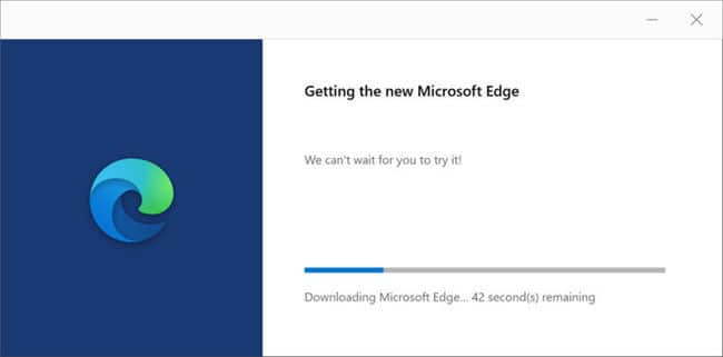 Downloading and installing Microsoft Edge browser 1