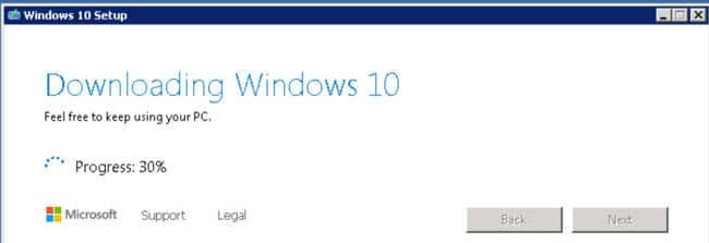 Media Creation Tool downloading Windows 10
