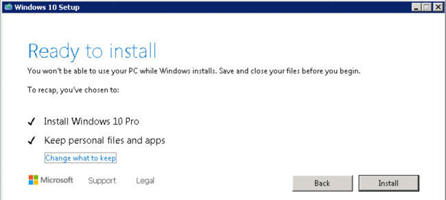 Ready to upgrade from Windows 7 Pro to Windows 10 Pro