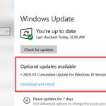 Optional updates available in Windows Update