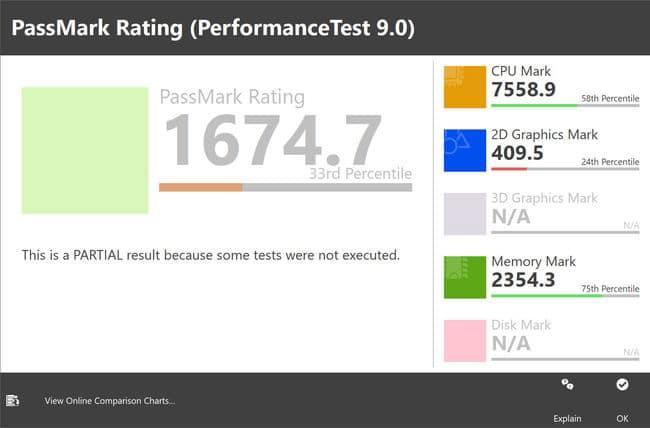 Passmark system rating after installing KB4540673