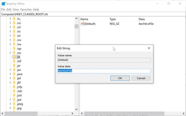 Creating a new filetype in Windows Registry