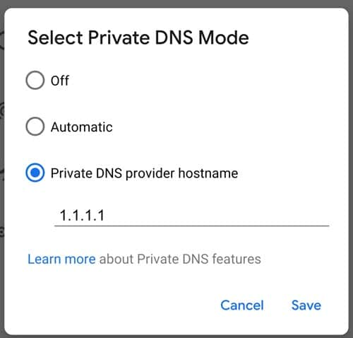 Enable DNS over HTTPS in Android