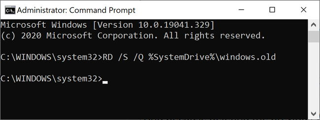 Remove previous Windows installation using command line