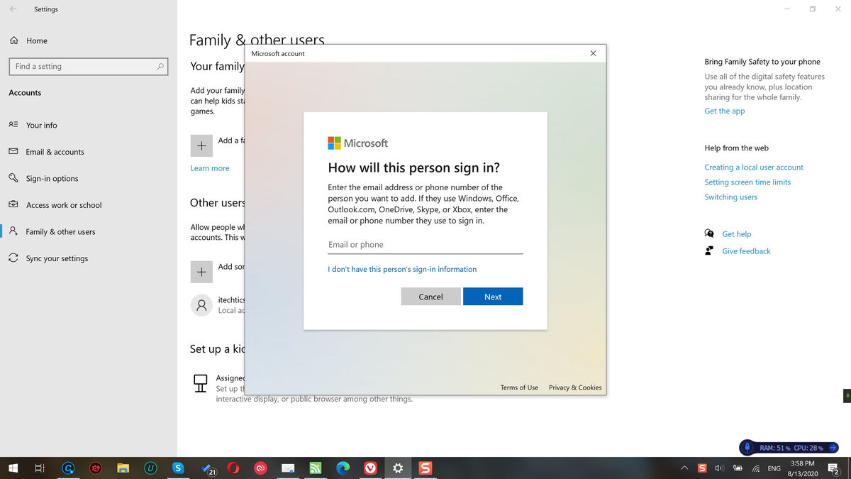 Create and manage local users in Windows 10 Home