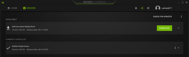 Download the new GeForce driver