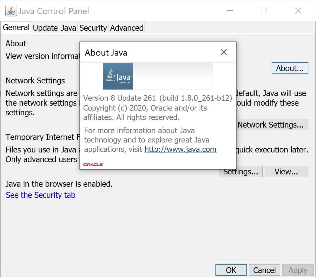 Download and Install Java 8 Update 261
