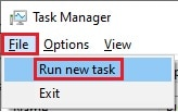 task manager run new task