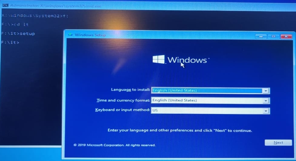 windows installation wizard