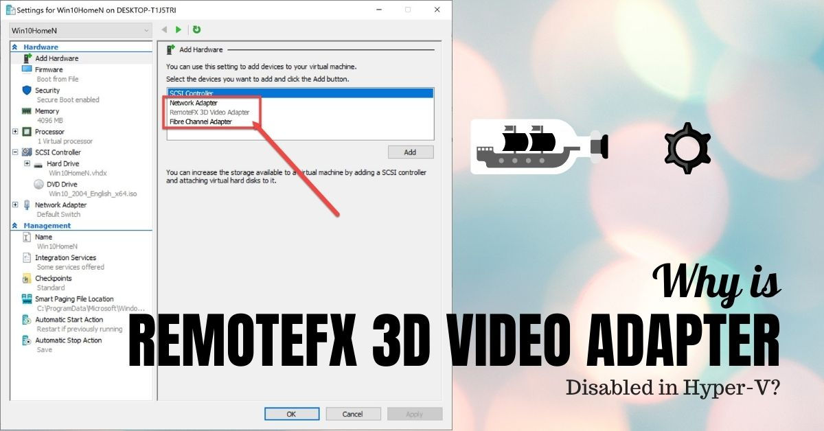 RemoteFX 3D Video Adapter disabled