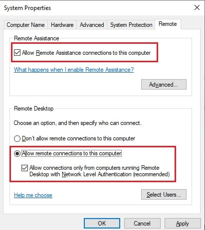 how to connect to remote machine through command prompt