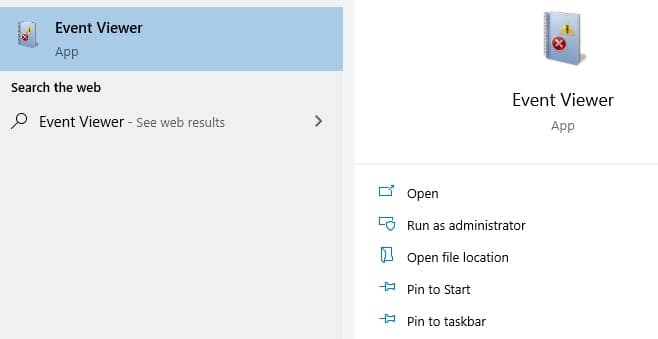 event viewer search