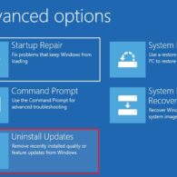 How to Uninstall Windows 10 Updates without Booting into Computer