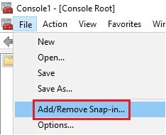 add remove snapin