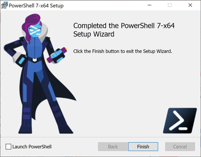 Finish PowerShell 7 1 installation