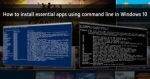 install essential apps using command line