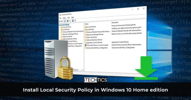 How to Enable SecPol.msc in Windows 10 Home (Local Security Policy) 1