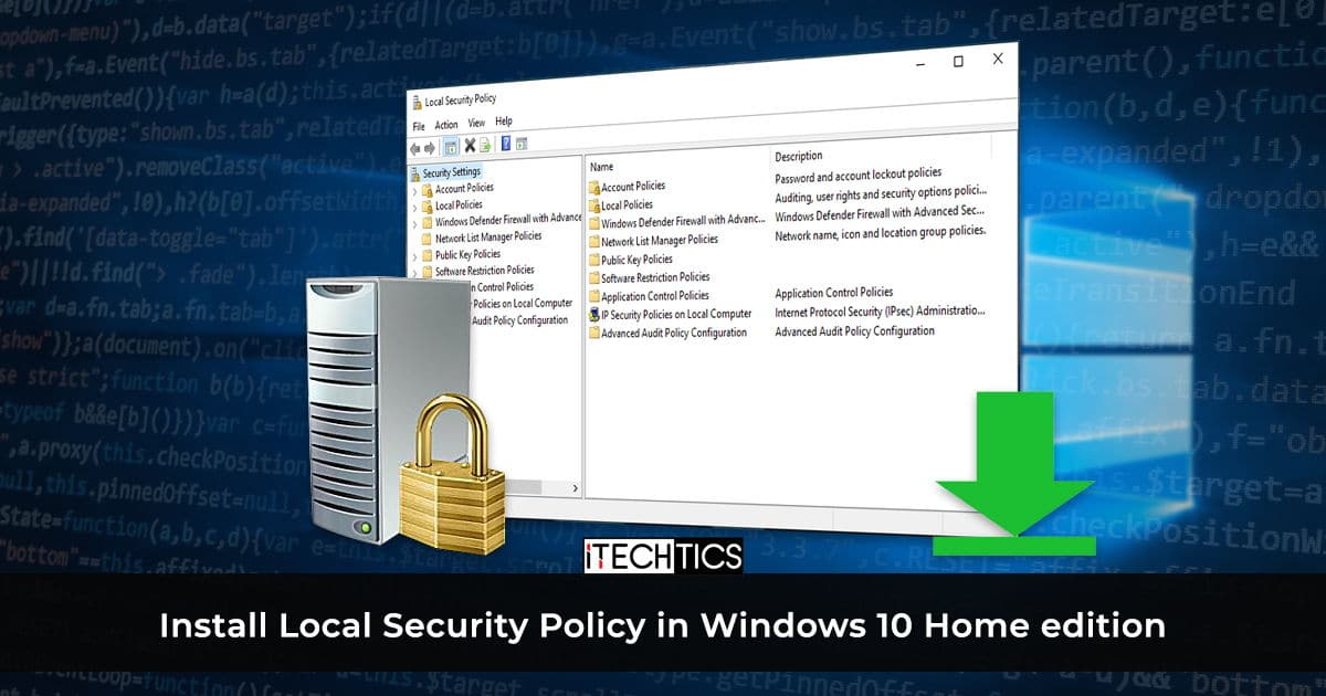 How to Enable SecPol.msc in Windows 10 Home (Local Security Policy)