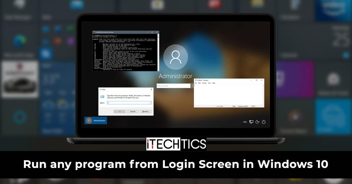 How to Run Any Program from Login Screen in Windows 10