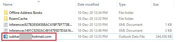 Outlook OST File location