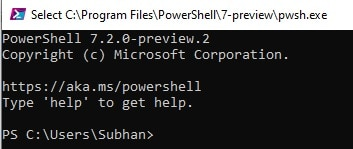 Download and install PowerShell 7.2 Preview 2 for Windows 10 6