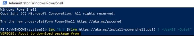 Download and install PowerShell 7.2 Preview 2 for Windows 10 7