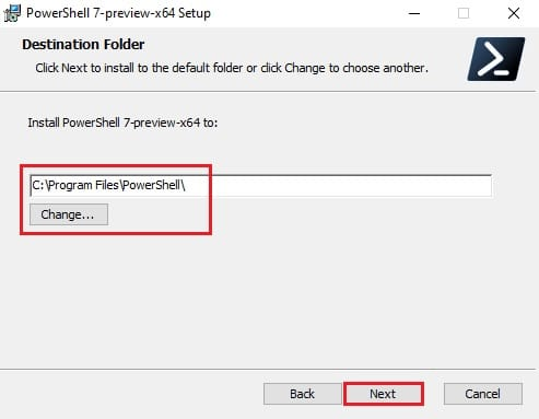 Download and install PowerShell 7.2 Preview 2 for Windows 10 2