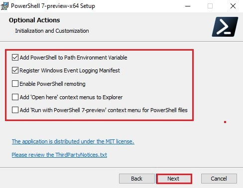 Download and install PowerShell 7.2 Preview 2 for Windows 10 3